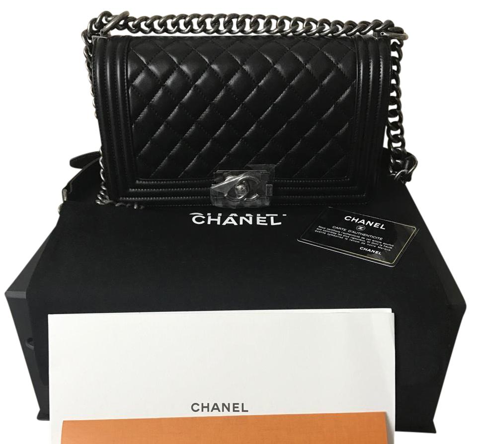 8d79c69c8fb2 Chanel Boy 2017 Quilted Le Old Medium Black with Ruthenium Hardware ...