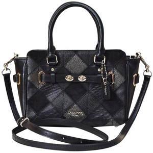 Coach Leather Rare Mix Leather Patchwork Metallic Cross Body Bag