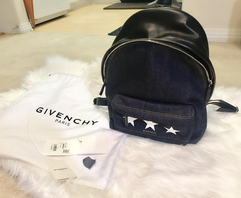 Small Backpack Star Leather Black Print Givenchy Demin Blue amp; Jean AFRSwn