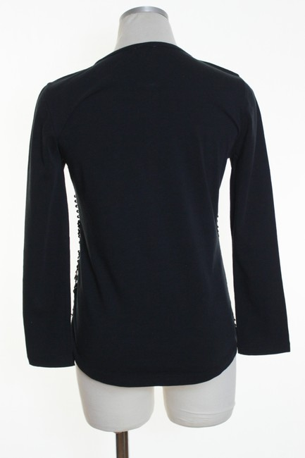 J.Crew Knit Sequin Long Sleeve T Shirt Black Image 2