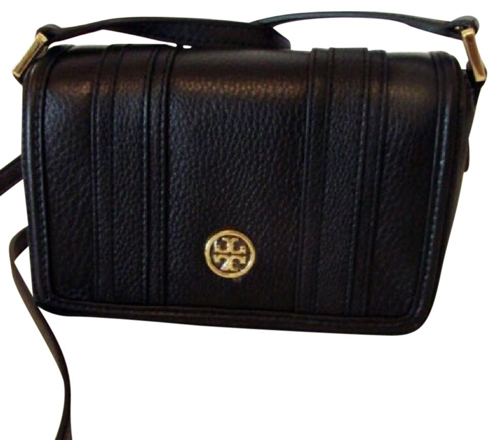 0f34bb97c3fc Tory Burch Landon New Mini Black Leather Cross Body Bag - Tradesy