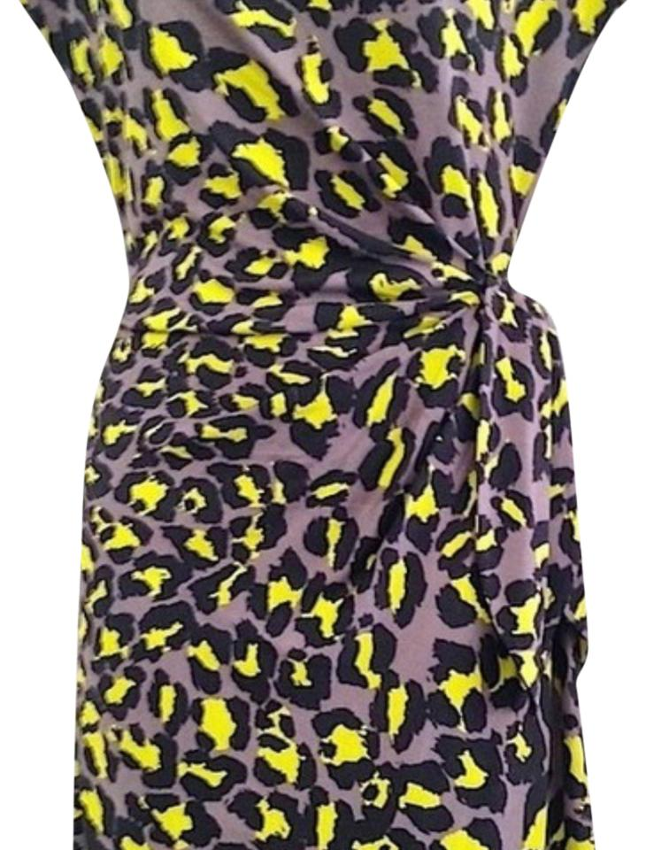 99be6a86e47a Diane von Furstenberg short dress Black and yellow on Tradesy Image 0 ...