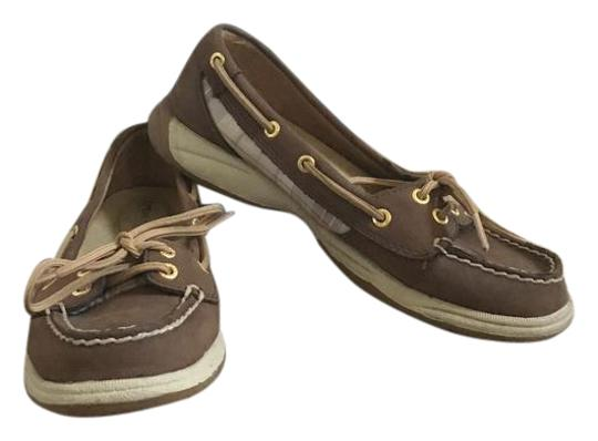 Sperry Boat Tie Brown Flats