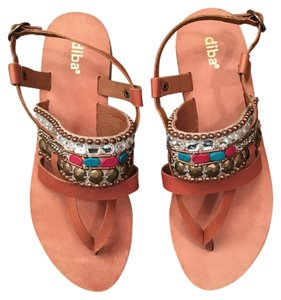 Diba Multi color with brown strap Sandals