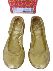 Tory Burch Gold Ballet Gold Metallic Flats