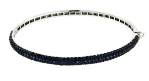 EFFY EFFY 14.07 carats sapphire necklace in 14k white gold 16 inches long