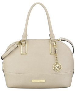 Anne Klein Faux Leather Satchel in Vanilla