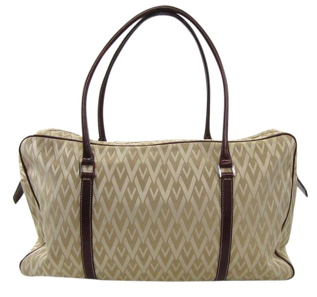 Item - V-fabric Riedition Ss '68 Large Tote Beige Canvas Weekend/Travel Bag