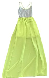 gray & lime green Maxi Dress by Sage