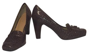 Nine West Brown crocodile Pumps