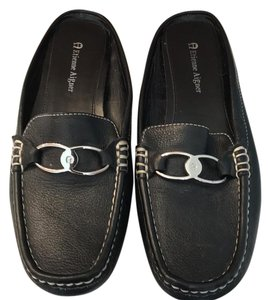 Etienne Aigner black with silver tone hardware Flats