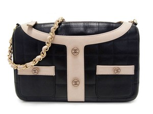 a4113c27d0958b Chanel Vintage Lambskin Patent Leather Shoulder Bag