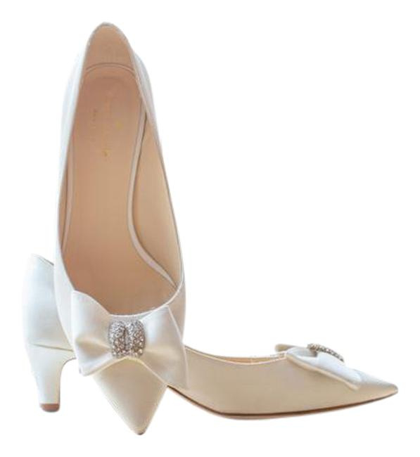 Item - Ivory / Satin New York Pumps Size US 7 Regular (M, B)