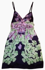Imaginary Voyage short dress Dark Purple/print on Tradesy