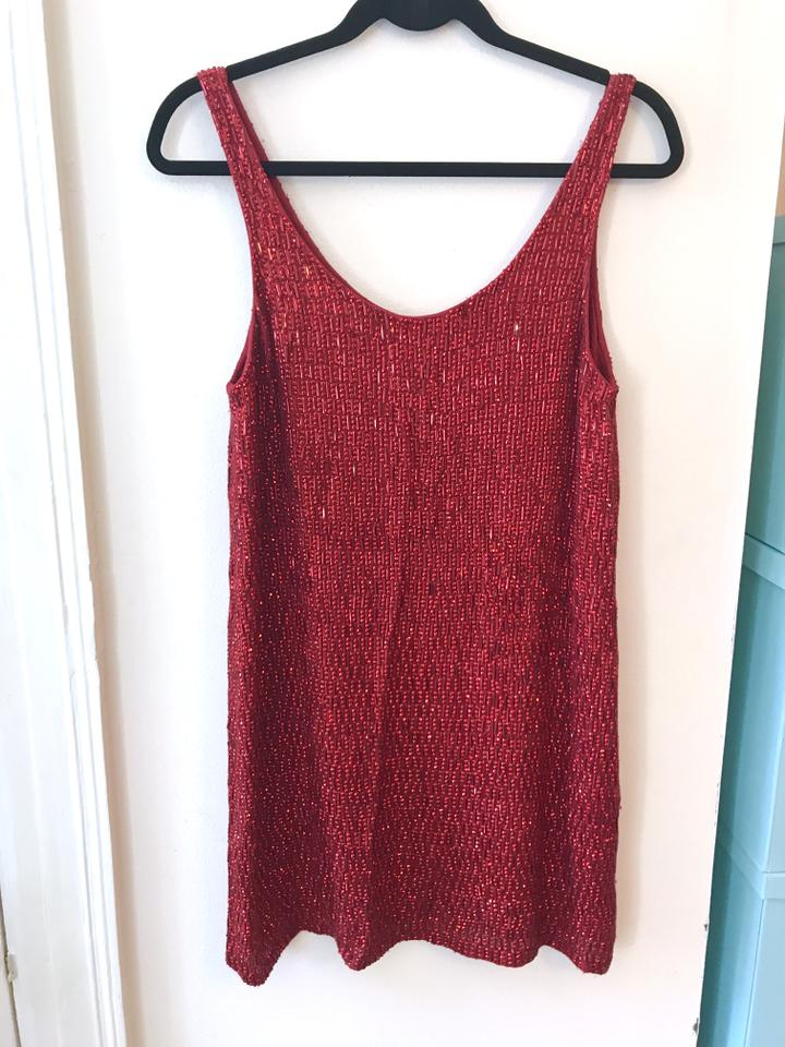 8fa26dc9 MLV Ruby Red Sequined Mini Faye Short Night Out Dress Size 2 (XS ...