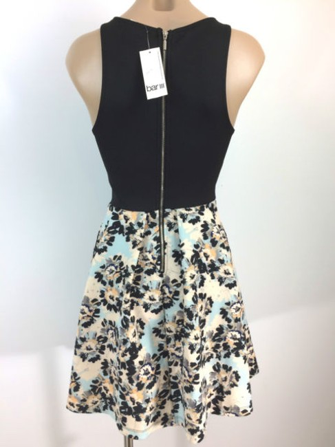 Bar III short dress Multi-Color-Pink, Light Blue and Black Mini Stretchy Material With Tags Floral Pattern Front Panel on Tradesy