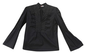 Morgan de Toi Button Down Shirt Black