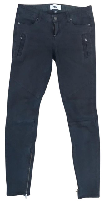 Paige Grey Marley Moto Pant In Black Currant Skinny Jeans Size 27 (4, S) Paige Grey Marley Moto Pant In Black Currant Skinny Jeans Size 27 (4, S) Image 1