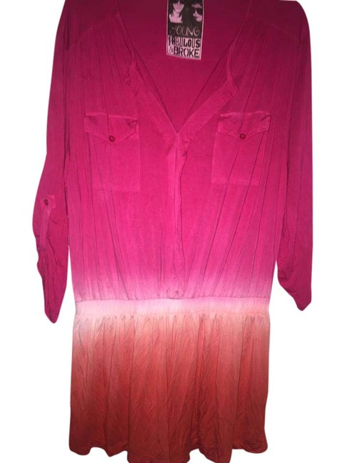 Preload https://img-static.tradesy.com/item/21540736/young-fabulous-and-broke-pink-and-orange-short-romperjumpsuit-size-12-l-0-1-650-650.jpg