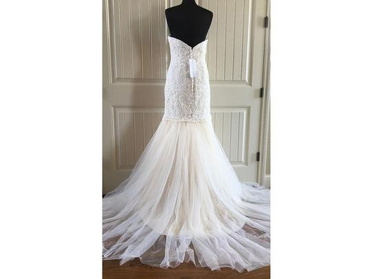 MADISON JAMES Ivory Tulle & Lace Mj161 Feminine Wedding Dress Size 8 (M)