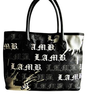 L A M B Handbags Large Bags Tote In Black And White