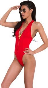Yandy BAYWATCH LIFEGUARD SWIMSUIT S ONE PIECE Zipper Front BRAND NEW
