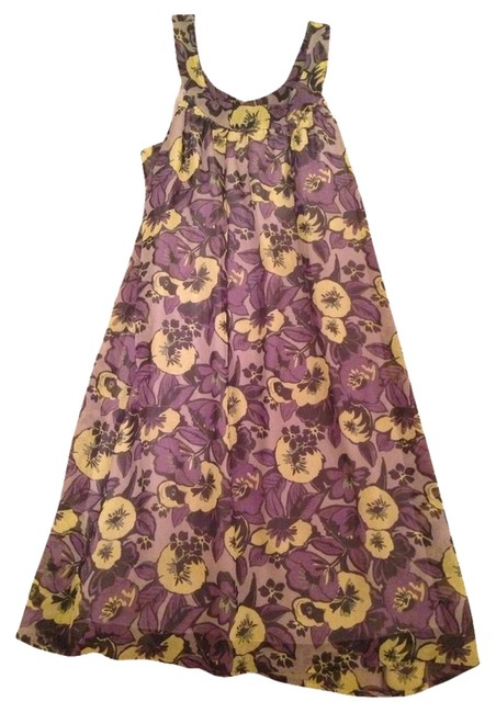 Preload https://item1.tradesy.com/images/jonathan-martin-dress-floral-green-and-purple-2154090-0-0.jpg?width=400&height=650