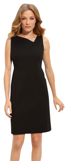 Preload https://img-static.tradesy.com/item/21541122/eileen-fisher-black-asymmetric-neck-short-workoffice-dress-size-8-m-0-5-650-650.jpg
