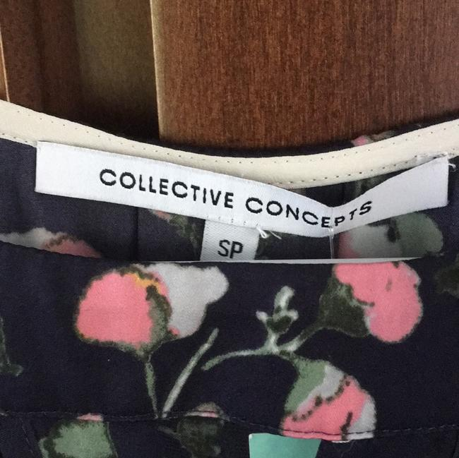 Collective Concepts Keyhole Color-blocking Preppy Stitchfix Top Navy Floral