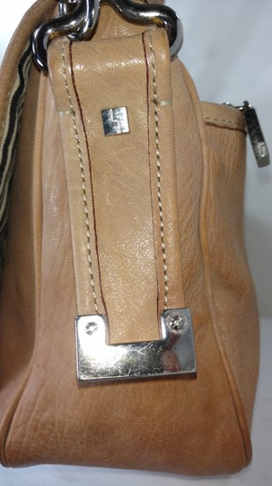 L.A.M.B. Satchel in Beige Tan with a hint of peach