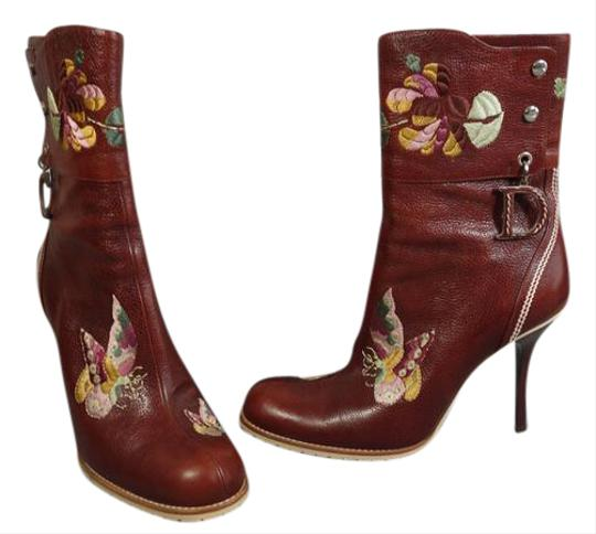 Preload https://img-static.tradesy.com/item/21541435/dior-brown-365-tapestry-floral-butterfly-embroidered-ankle-round-toe-bootsbooties-size-us-65-regular-0-1-540-540.jpg