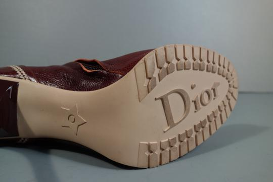 Dior New Burgundy Color Brown Boots