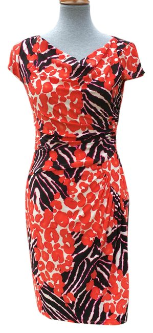 Preload https://img-static.tradesy.com/item/21541570/nine-west-black-purple-orange-white-animal-print-sheath-short-night-out-dress-size-8-m-0-1-650-650.jpg