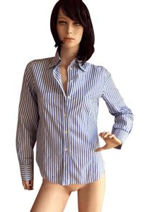 Paul Smith Button Down Shirt blue and white