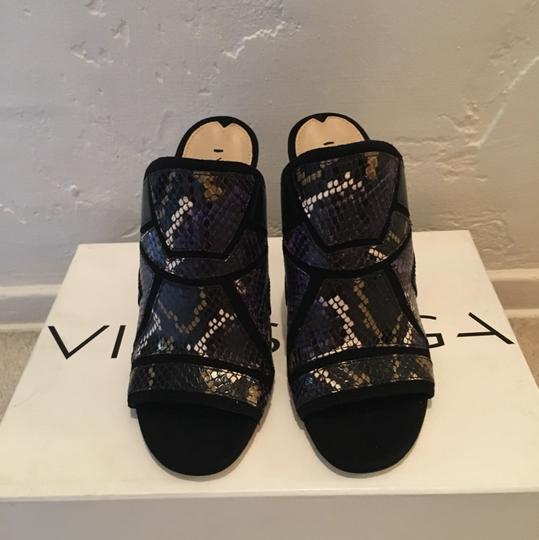 Via Spiga Black multi color Sandals