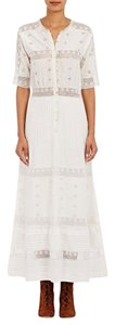 white Maxi Dress by Ulla Johnson Boho Maxi Cotton Silk Lace