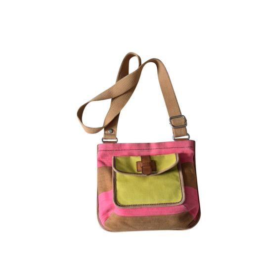 Preload https://img-static.tradesy.com/item/21541943/fossil-multi-color-tanyellowpink-cotton-canvas-and-leather-cross-body-bag-0-1-540-540.jpg