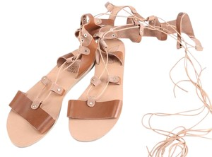 Ancient Greek Sandals Leather Summer Chemical Free brown Sandals