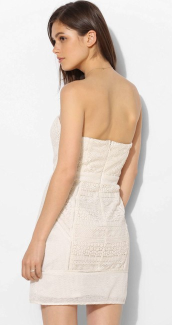 Chandi and Lia short dress white Crochet Strapless on Tradesy