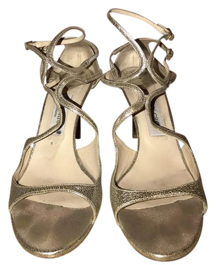 Jimmy Choo Ivette Wedding Glam Champagne Glitter Sandals