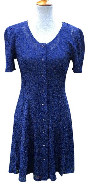Preload https://item1.tradesy.com/images/all-that-jazz-blue-lace-fit-short-casual-dress-size-8-m-21542085-0-1.jpg?width=400&height=650