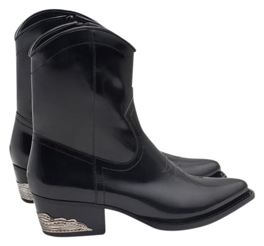 Preload https://item5.tradesy.com/images/zara-black-pointy-toe-metal-heel-leather-western-cowboy-ankle-bootsbooties-size-us-8-narrow-aa-n-21542124-0-1.jpg?width=440&height=440