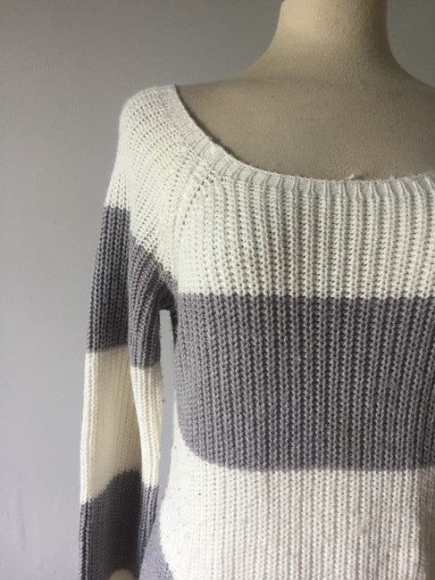 H&M Striped Oversized Grunge 1990s Express Vintage Chic Sweater