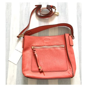 Cate Riley Orange Leather Cross Body Bag