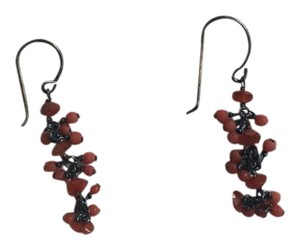 Ten Thousand Things Ten Thousand Things Coral Oxidized Sterling Silver Earrings