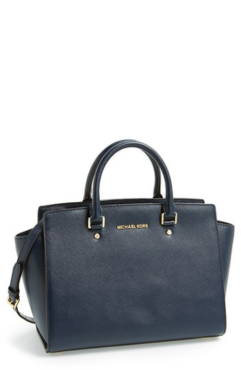 Preload https://item1.tradesy.com/images/michael-kors-collection-selma-black-patent-leather-satchel-21542265-0-0.jpg?width=440&height=440