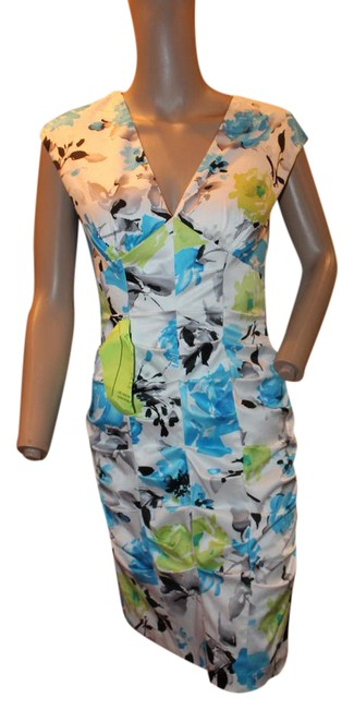 Preload https://item5.tradesy.com/images/lime-green-blue-and-white-ruched-sexy-mid-length-night-out-dress-size-6-s-21542279-0-1.jpg?width=400&height=650