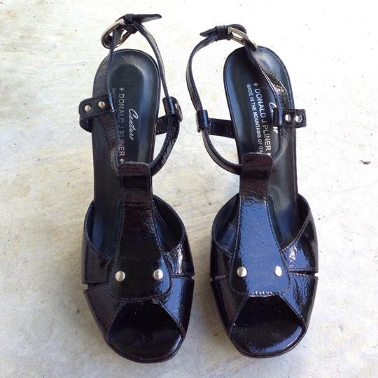 Donald J. Pliner Black Platforms