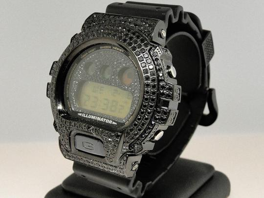 Casio G-shock Casio G-Shock 6900 Black Iced Out Simulated Diamond Watch 5.5 Ct