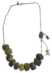 Lee Angel Lee Angel Chunky Green Stone Necklace
